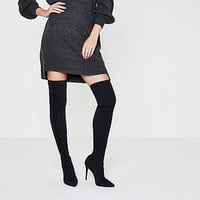 Black pointed over-the-knee boots - Boots - Shoes & Boots - women