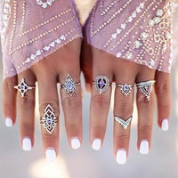 Ring Pale Violet Geometric Set [11790888847]