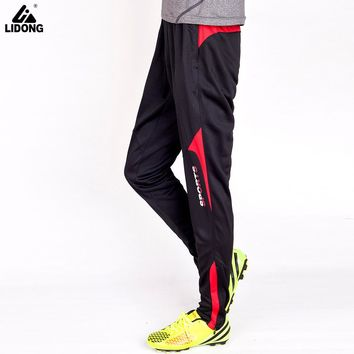 LIDONG Football Soccer Training Pants GYM Sportswear Sport Jogging Trousers Volleyball Active Workout Hiking Tennis Sweatpants