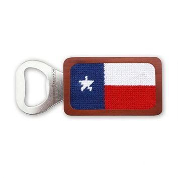 Texas Flag Needlepoint Bottle Opener by Smathers & Branson