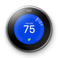 Shop Nest Stainless Steel Learning Thermostat with Built-In Wifi at Lowes.com