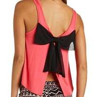 BOW-BACK SWING CROP TOP