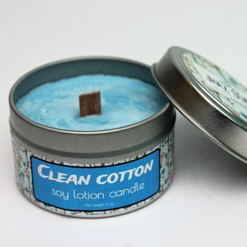 Clean cotton lotion candle
