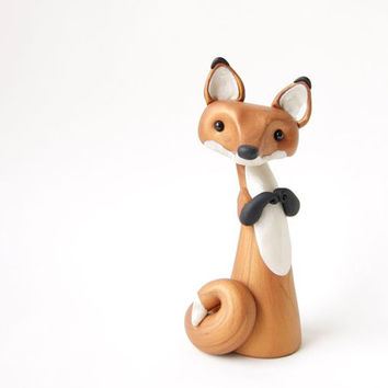 Red Fox Figurine by Bonjour Poupette