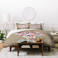 Allyson Johnson Floral Diamond Duvet Cover
