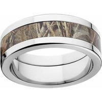 Realtree Max 4 Men's Camo 8mm Stainless Steel Wedding Band with Polished Edges and Deluxe Comfort Fit - Walmart.com