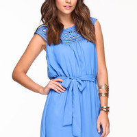 WEAVER BOW SASH DRESS