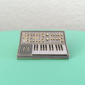 Synth Keyboard Enamel Pin