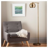 Modern Globe Floor Lamp Brassy Gold - Threshold™