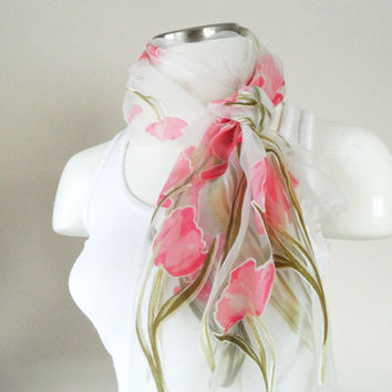 pink scarf, organza scarf, woman accessories, shawl, Spring Trends