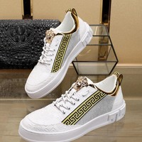 VERSACE  Men Casual Shoes Boots  fashionable casual leather