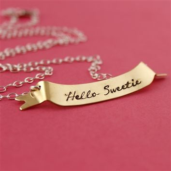 Doctor Who ''Hello Sweetie'' Necklace - Spiffing Jewelry