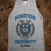 Monsters University Alumni (Vintage Tank) - Fresh To Deaf