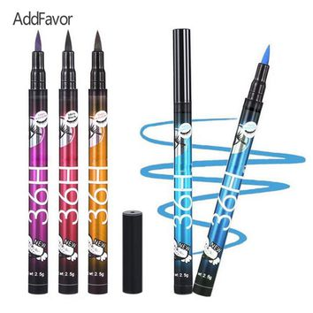 Addfavor 1Pc Liquid Slim Eyeliner Pen Waterproof Color Eye Liner Tool Make Up Long Lasting Eyeline Cosmetics Beauty Makeup Tool