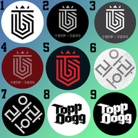 TOPP DOGG logo (Cigarette & Arario) Bottle Cap Necklace KPOP (9 Styles)
