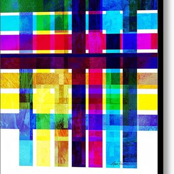 Bold Stripes Abstract Art Canvas Print
