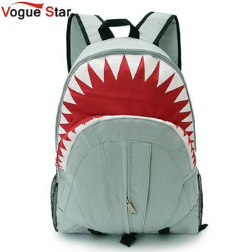 Vogue Star 2017 Free Shipping! Hot Sale Children Fashion Shark Backpack Cute Backpacks Boy's Travel Bags School Bag YA40-282