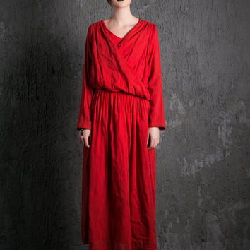 2015 New Red Long Dress