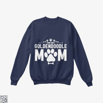 Goldendoodle Mom, Family Love Crew Neck Sweatshirt