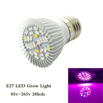 Led Grow Light Full Spectrum Led Plant Lamp 28W E27 AC85-265V 15Red+7Blue+4White+1UV+1IR Indoor Greenhouse Hydroponics Grow Box