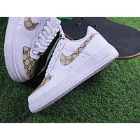 Gucci x NIKE Air Force Classic Fashion Women Men Casual Running Sport Shoes Sneakers I/A