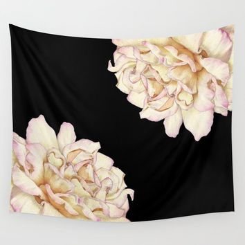 Roses - Lights the Dark Wall Tapestry by drawingsbylam