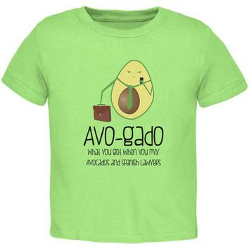 DCCKIS3 Avocado Abogado Lawyer Funny Spanish Pun Toddler T Shirt