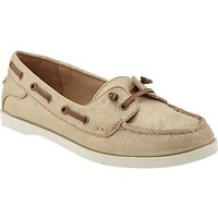 Women's Metallic-Finish Boat Shoes