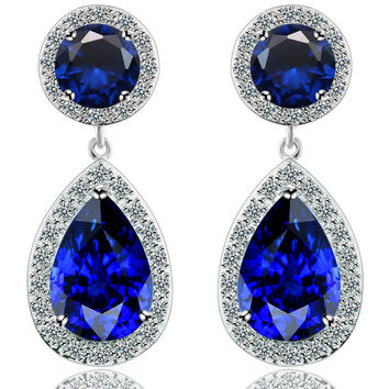 Vintage Accessory Water Droplets Earring Elegant Earrings [4918341124]