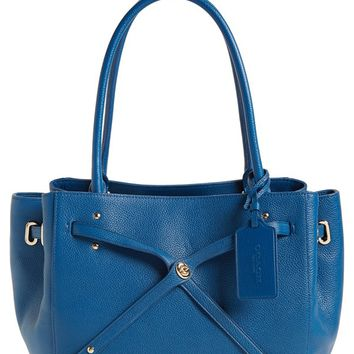 COACH 'Turnlock Tie' Leather Tote | Nordstrom