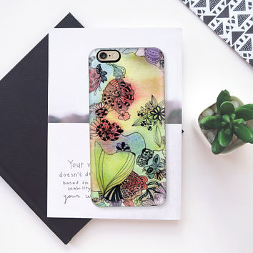 Sweet doodle flowers iPhone 6s case by Heaven Seven | Casetify