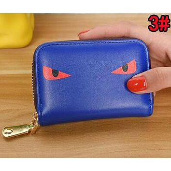 FENDI Women Men Clutch Bag Zero Wallet Purse Card Bag 3#