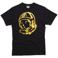 Helmet Logo T-Shirt Black / Gold Foil