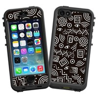 """Black and White Tribal """"Protective Decal Skin"""" for LifeProof nuud iPhone 5s Case"""