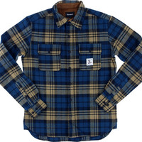 Diamond Caribou Flannel Longsleeve Buttonup Small Golden Brown