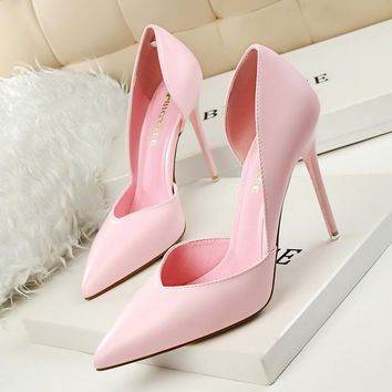 New Summer Shoes Women Elegant Pumps Pointed Club Ultra Thin High Shoes High-heeled Sh