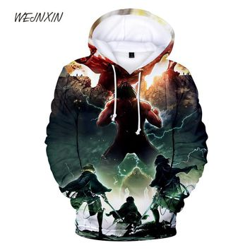 Cool Attack on Titan WEJNXIN New  3D Print Hoody Hoodies With Pockets Sweatshirts For Men Women Unisex Fleece Warm Streetwear Clothes AT_90_11