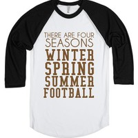 Four Seasons Of Football-Unisex White/Black T-Shirt