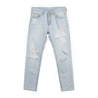 Vintage Distressed Blue Jeans