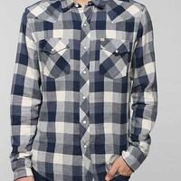 Salt Valley Buffalo Plaid Western Shirt- Blue