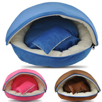 Hot New Unique Soft Fleece Pet Dog Puppy Cat Warm Bed House Plush Cozy Nest Mat Pad = 1929730692