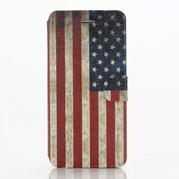 America Flag Leather creative case Cover for iPhone 6S 6 Plus Samsung Galaxy S6