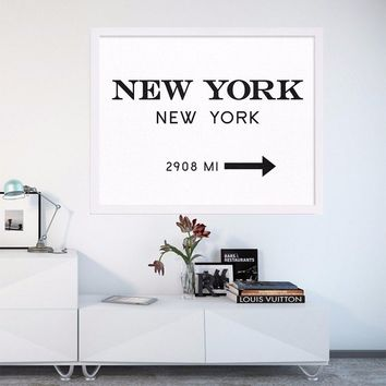 New York City Fashion Art NYC Art Black and White Print Modern Print Art Posters Canvas Art Painting Wall Pictures, No Frame