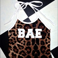 SWEET LORD O'MIGHTY! OG BAE HALTER IN LEOPARD