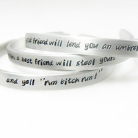 Set of 3 Personalized Bracelets up to 120 characters Best Friend, Gift for Friend, BFF, Friendship Gift, Couples, Sisters
