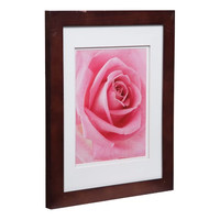 Single Image 11X14 Wide Walnut Frame with Double Mat to 8x10 - Gallery Solutions