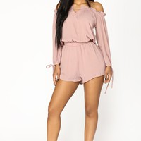 Santa Monica Romper - Dusty Pink