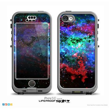 The Neon Colored Paint Universe Skin for the iPhone 5c nüüd LifeProof Case