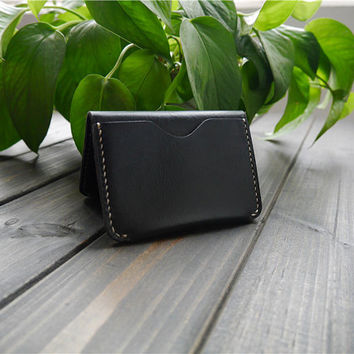 Mens Leather Credit Card Case , Genuine Leather Card Case Holder , Minimalist Leather Card Case , Slim Leather Card Wallet , Mens Gift