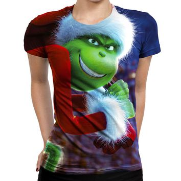 Grinch Stole Christmas Womens T-Shirt